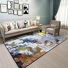 NBE Abstrakte Farbe Teppich Teppich Wohnzimmer/Mat