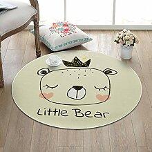 NBE Mode Cartoon Kinder tragen runden Teppich