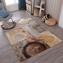 NBE Retro Style abstrakte Kunst Teppich Wohnzimmer