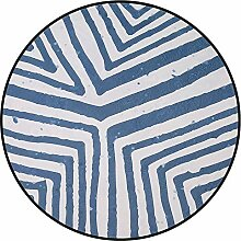 NBE runden Teppich Blau Rutschfeste