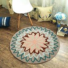 NBE Runder Teppich Schlafzimmer Wohnzimmer