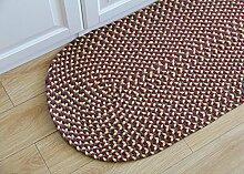NBE Teppich handgefertigte Baumwolle Mat Oval