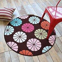 NBE Teppich runde Teppiche Schlafzimmer Wohnzimmer