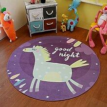 NBE Trendy Cartoon Kinder runder Teppich