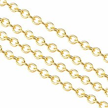 nbeads 92M Golden Messing Kreuz Ketten für