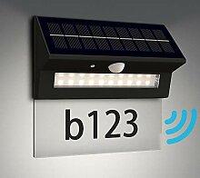 NBHANYUAN Lighting® Solar Wandlampe Hausnummer