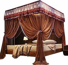 NBWE 4 Eckpfosten Bett Baldachin Vorhang Net