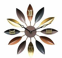 NBWE Kreative Wanduhr Blätter Dekoration Wanduhr