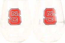 NCAA Weinglas ohne Stiel, bruchsicher, Kunststoff,