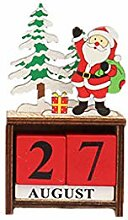 Ncbvixsw Adventskalender aus Holz, Weihnachtsmann,