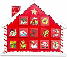 Ncbvixsw Adventskalender mit 24 Schubladen,