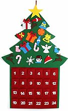 Ncbvixsw Adventskalender-Set, 24 Tage