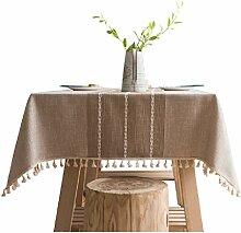 Nclon Baumwolle Hanf Tischdecke,Amerikanischen