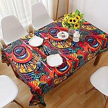 Nclon Ethno-Stil Tischdecke,Baumwolle Leinen