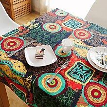 Nclon Ethno-Stil Vintage Tischdecke,Mittelmeer