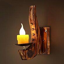 Nclon Industrielle Vintage Holz Kerze