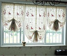 Nclon Kinderzimmer Vorhänge gardinen,Bestickt