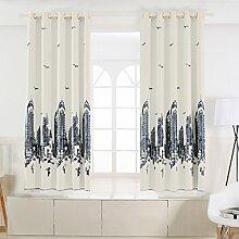 Nclon Kurze Vorhänge gardinen,Licht blockiert