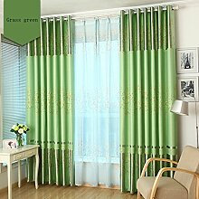 Nclon ösen Vorhänge gardinen,Licht blockiert
