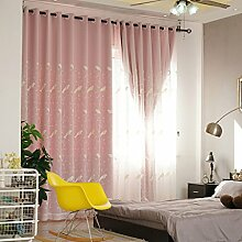 Nclon Reine Farbe Baumwolle Vorhänge