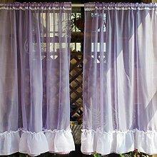 Nclon Romantisch Voile Vorhänge gardinen,Zarten