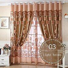 Nclon Romantisch Vorhänge gardinen,Licht