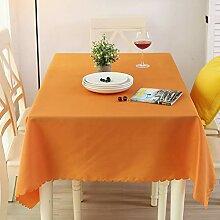Nclon Volltonfarbe Tischdecke, Waschbar Polyester
