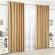 Nclon Vorhänge gardinen,Reine farbe Sonnenschutz Lärmreduzieren Licht blockiert Thermisch isoliert Maschinenwäsche Nicht verblassen ösen Solid Bleistiftfalte Vorhänge gardinen Uv schutz-Orange 1 Panel W300cm*D270cm