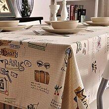 Nclon Zeitung Tischdecke,Baumwolle Tischtuch