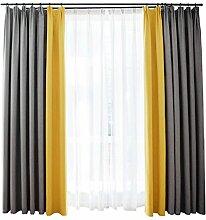 Nclon Zweifarbig Splice Vorhänge