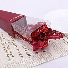 NDDHH Romantische 24 Karat Goldfolie Rose