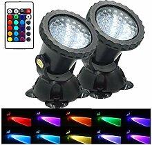 NDHENG 4 Stück LED Unterwasserleuchte LED