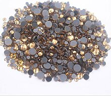 NDKC Ss6-Ss30 Mix Größe Hot Fix Strass Gold Glas