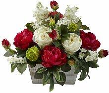 Nearly Natural 1320 Blumengesteck mit weißem
