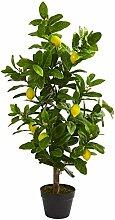 Nearly Natural 3' Lemon künstliche Pflanze,