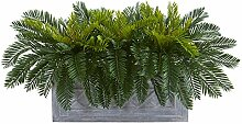 Nearly Natural Cycas Artificial Stone Planter