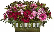 Nearly Natural Daisy Arrangement In Decorative