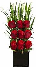 Nearly Natural Elegant Rose Arrangement In Vase