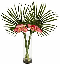 Nearly Natural Fan Palm and Calla Lily Artificial