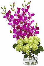 Nearly Natural Rose & Dendrobium Orchid Artificial