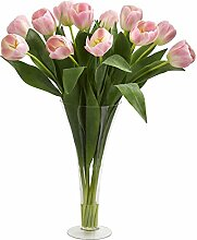 Nearly Natural Tulips Artificial Arrangement in