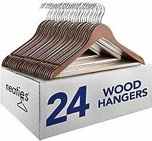 Neaties Walnuss massiv Everyday Holz Kleiderbügel