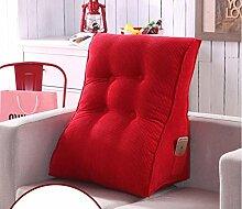 Neck Care Taille Kissen Bedside Rückenlehne Dreieckige Sofa Kissen Bett Soft Bag Taille Kissen abnehmbare waschbar ( Farbe : A2 , größe : 55X60cm )