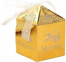 Neckip 50 Stück Gastgeschenk Box Süßigkeiten