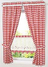 NECOHOME Küche Gardine im Landhausstil 2er Set