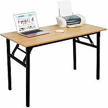 NeedFurniture Schreibtisch Klapptisch Holz, 120 x