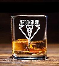 NeeNoNex Groomsman Smoking Whiskey Glas –