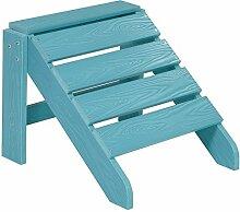 NEG Design Adirondack Fußbank MARCY (türkis-blau) Westport-Hocker/Fußhocker aus Polywood-Kunststoff (Holzoptik, wetterfest, UV- und farbbeständig)