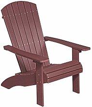 NEG Design Adirondack Stuhl MARCY (rot-braun)