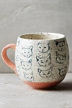 Neko Tasse mit Katzenmotiv - Pink